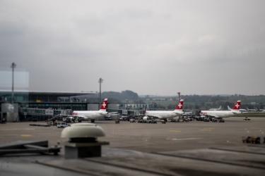 Mezipřistání ve Švýcarsku