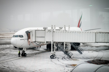 V Budapešti je plno sněhu