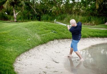 Náhodná voda v písku