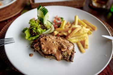 Steak k obědu